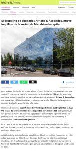 El despacho de abogados Arriaga & Asociados, nuevo inquilino de la socimi de Mazabi en la capital   Idealista