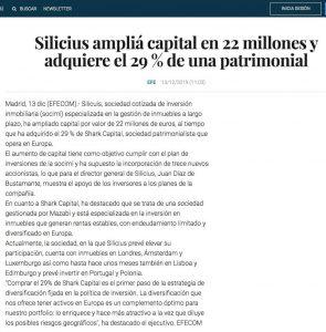 Silicius amplía capital en 22 millones y adquiere el 29 % de una patrimonial | El Confidencial