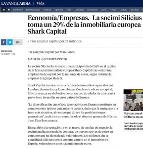 La socimi Silicius toma un 29% de la inmobiliaria europea Shark Capital | La Vanguardia