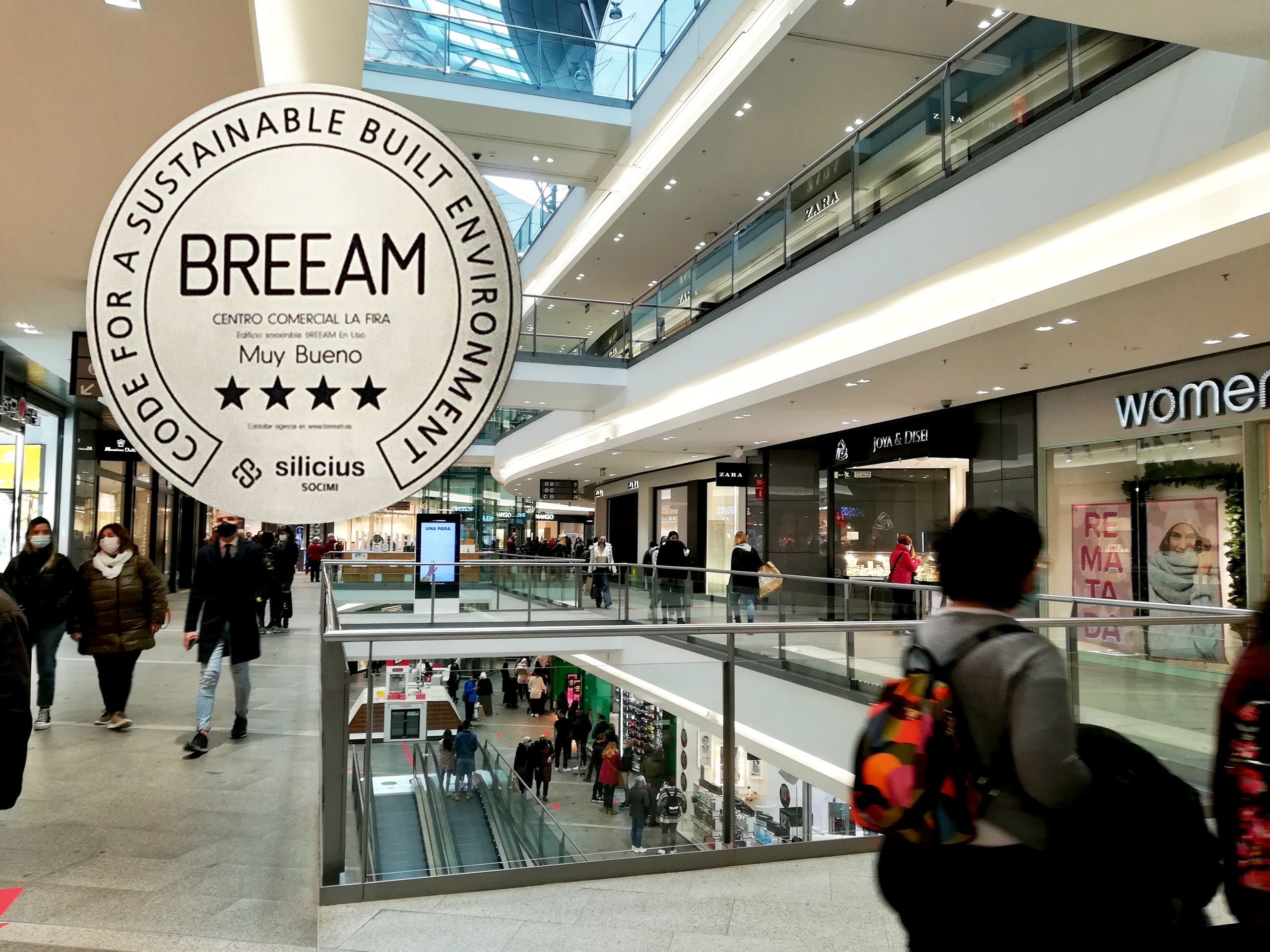SILICIUS obtains the Breeam® certificate for its Shopping Centre La Fira and advances in its commitment to environmental sustainability